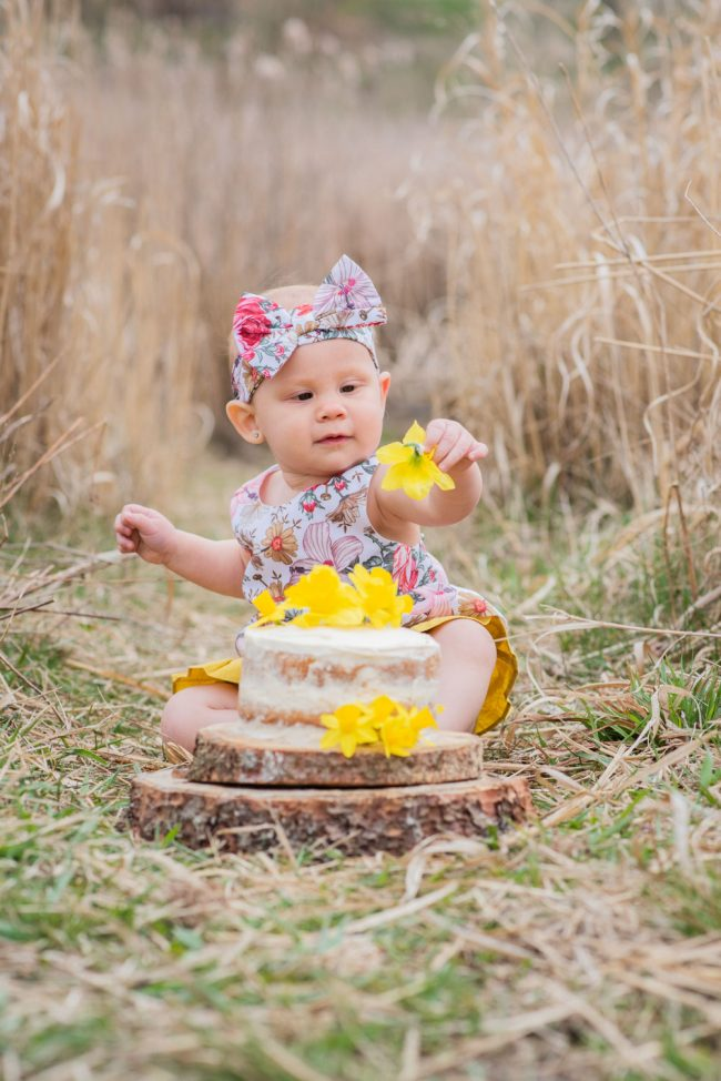 Outdoor Cake Smash Guelph Kitchener Photoshoot