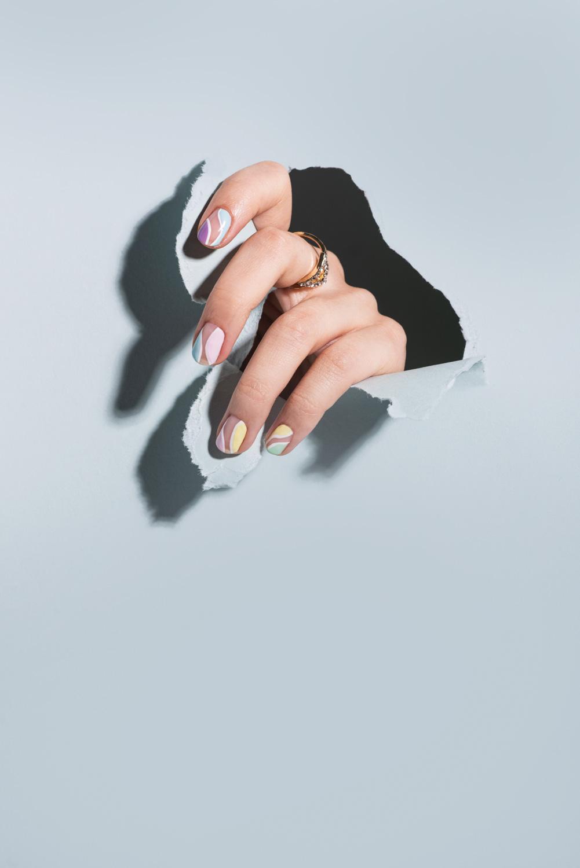 Nail art model photos
